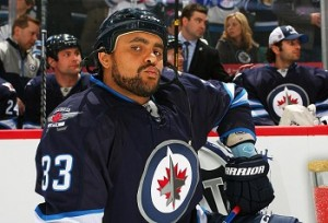 Defenseman Dustin Byfuglien