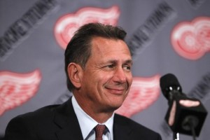 Ken Holland working the phones for the Wings