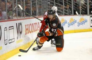 Hampus Lindholm newly resigned by the Ducks