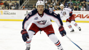 Dave Clarkson from the Columbus Blue Jackets